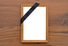 Picture frame with mourning band Stock Photos