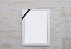 Picture frame with mourning band Royalty Free Stock Images