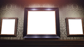 Picture frame in museum Royalty Free Stock Images