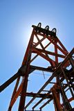 Frame of an oil well in Jerome Arizona stock image
