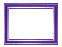 Picture Frame. Old Antique Purple  frame Isolated Decorative Carved Wood Stand Antique  Frame Isolated On White Background Royalty Free Stock Photo