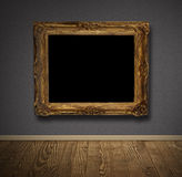 Picture frame in old wall. Stock Photo