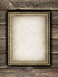 Picture frame on old wooden planks Royalty Free Stock Images