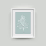 Picture frame for photographs. Picture frame with palm leaf photograph. Vector realisitc paper plastic white picture-framing mat with wide borders shadow royalty free illustration