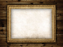 Picture frame on planks Stock Images