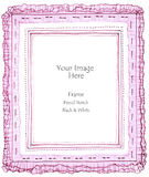 Picture frame pleated fabric Royalty Free Stock Photography