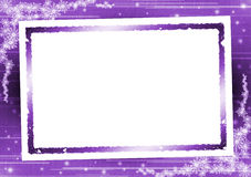 Picture frame on purple background Royalty Free Stock Images