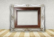 Picture frame put on table stock image