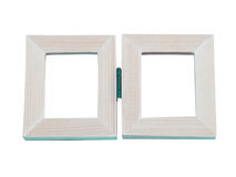 Picture frame. Rectangular wooden frame, suitable for a cute photo Stock Image