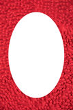 Picture frame red cloth mat Royalty Free Stock Photos