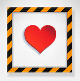 Heart warning Royalty Free Stock Image