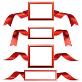 Picture frame and ribbon Stock Photography