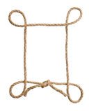 Picture frame of rope Stock Photography