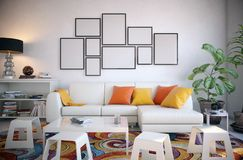 Picture frame set in the living room Stock Photography