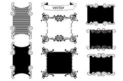 Picture Frame Shapes Vector stock illustration