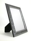 Picture frame - silver 01. A silver picture frame shot at a 3/4 angle Royalty Free Stock Photos