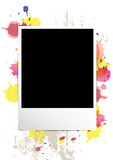 Picture frame on splatter background. Design Royalty Free Stock Photo