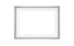 Picture frame, Steel. Copy Space Royalty Free Stock Photos