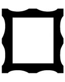 Picture frame symbol. Black picture frame symbol on white background Stock Images
