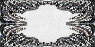 Picture Frame technically in silver Royalty Free Stock Images