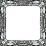 Picture Frame technically in silver Stock Photos