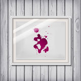 Picture frame template with wine / blood as blotch / blot / blob Royalty Free Stock Photography