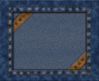 Picture frame with a texture of denim Stock Image