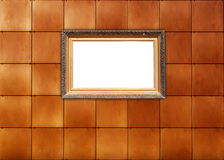 Picture Frame on Tiled Wall Royalty Free Stock Photography
