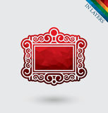 Picture frame vector icon. Stock Photography