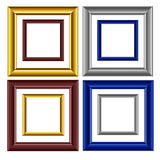 Picture frame vector. 8 vector image colored picture frames on white background royalty free illustration