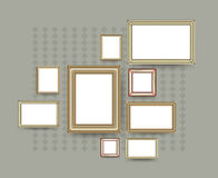 Picture frame vector. Photo art gallery on vintage wall. Royalty Free Stock Images