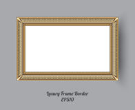 Picture frame vector. Photo art gallery on vintage wall. Royalty Free Stock Image