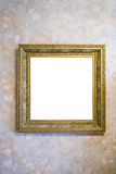 Picture frame on the wall Stock Images