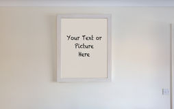 Picture frame on wall Royalty Free Stock Photography