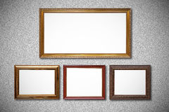 Picture frame. On wall background Stock Photography