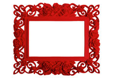 Picture frame on white. Red picture frame isolated on white background Royalty Free Stock Photos