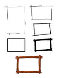 Picture frame on white background Royalty Free Stock Image