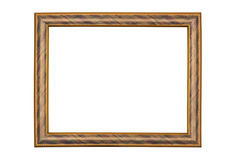 Picture frame on white background. Picture frame, isolated on white background Stock Photos