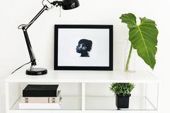 Picture frame on white table Royalty Free Stock Image