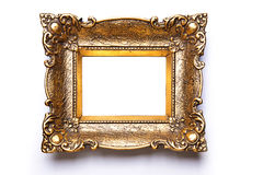 Picture Frame on white wall Stock Photo