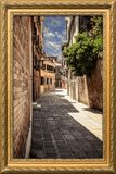 Picture Frame, Window, Sky, Alley Royalty Free Stock Image