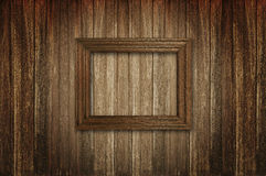 Picture frame on woden wall. Photo frame on old wood background Royalty Free Stock Photos