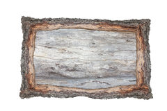 Picture frame wood cross section backgrounds bark and wood textu Royalty Free Stock Image