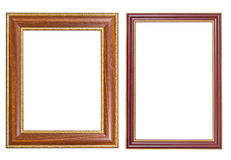 Frame wood and gold style Stock Images