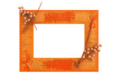Picture frame. Wood picture frame with pattern decoration Stock Photo