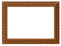 Picture frame. Wooden picture art frame isolated on white Royalty Free Stock Image
