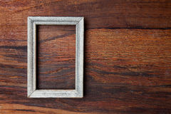Picture frame. On wooden background Stock Photography