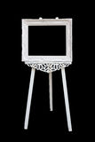 Picture frame with wooden easel Stock Photo