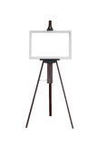 Picture frame with wooden easel isolated Stock Photo