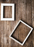 Picture frame on the Wooden  wall Royalty Free Stock Photography